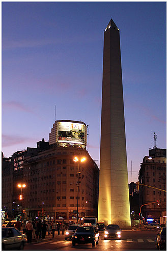 Obelisco de Buenos Aires - Obelisco de Buenos Aires at night October 15, 2011