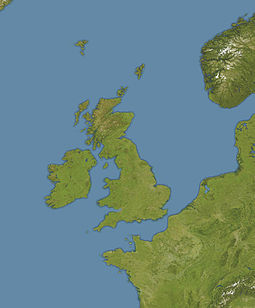 Location of Rockall in Europe.