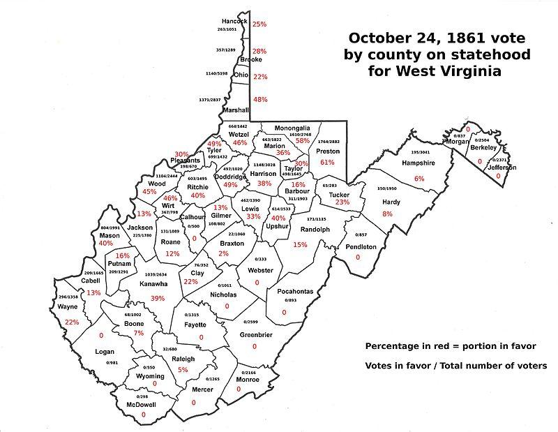 October 24, 1861 county vote for West Virginia statehood.jpg