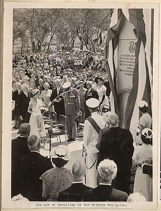 Australian–American Memorial - Image: Official unveiling of the Australian American Memorial
