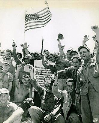 Okinawa Island - U.S. troops in Okinawa, June 27, 1945