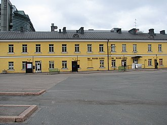 Kamppi - Service building of the Turku Barracks that later served as the Helsinki central bus station