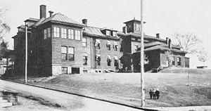 St. Luke's Hospital (Davenport, Iowa) - The original St. Luke's Hospital building after 1903.