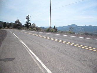 Oregon Route 99 - Old US 99 at Siskiyou Summit