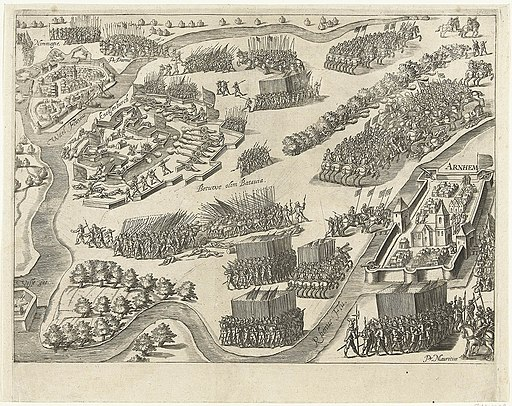 Ontzet van de schans Knodsenburg in 1591 door Prins Maurits - Relief of the siege of fort Knodsenburg by Prince Maurice (July 25, 1591)(Bartholomeus Willemsz. Dolendo)