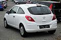 Opel Corsa 1.2 ecoFLEX Selection (D, Facelift) – Heckansicht, 13. Juni 2011, Heiligenhaus.jpg
