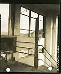 Open stairs through which fire did not spread, Hiroshima Communications Hospital.jpg
