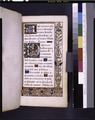 Opening of main text, border design, large and small initials, linefillers (NYPL b12455533-426064).tif