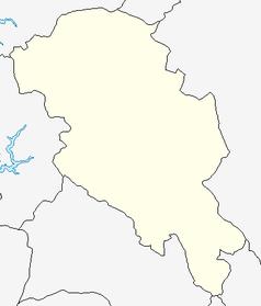"""Mapa konturowa Opplandu, po prawej znajduje się punkt z opisem """"Hafjell"""""""
