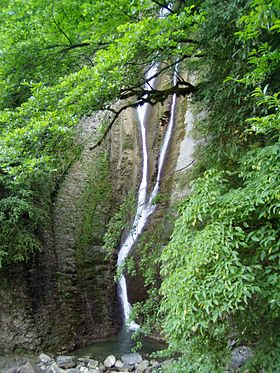 Orekhovsky waterfall in Sochi.JPG