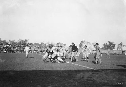The Hamilton Tigers playing an unknown Ottawa team in 1910. Ottawa and Hamilton Tigers football game 5.jpg
