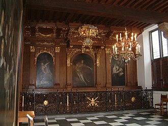 Willem Doudijns - Vierschaar with three paintings depicting the judgement of Salomon in The Hague city hall, by Doudijns