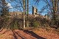 Pörtschach Leonstein Burgruine südliche Schildmauer mit Bergfried 26122020 0287.jpg
