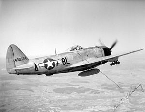 133d Operations Group - The P-47D of the Group commander, Col. Chickering, in 1945