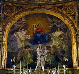 La Vierge, adorée par les anges