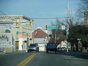 Northbound Pennsylvania Route 662 (Main Street...