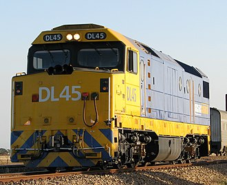 Australian National DL class - DL45 in Pacific National livery at Two Wells in December 2007