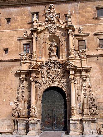 University of Orihuela - Colegio Santo Domingo. Door of the University.