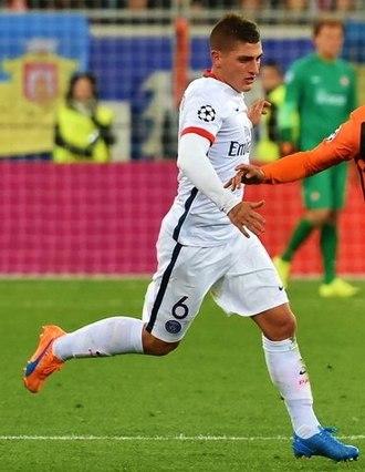 Marco Verratti - Verratti playing for Paris Saint-Germain in 2015