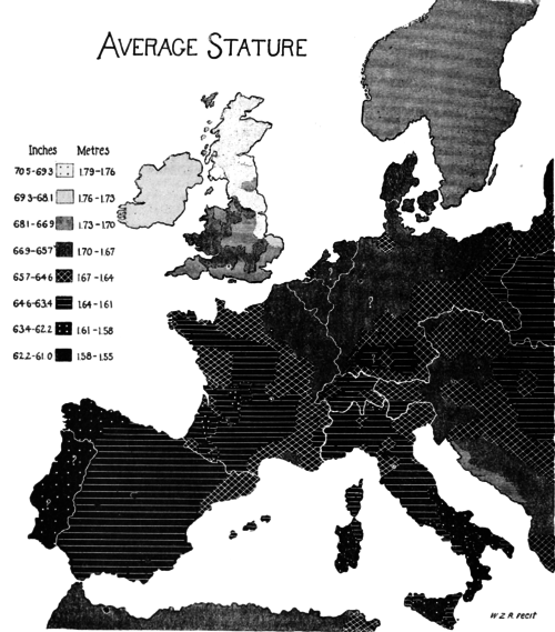 PSM V51 D038 Stature distribution of europe.png