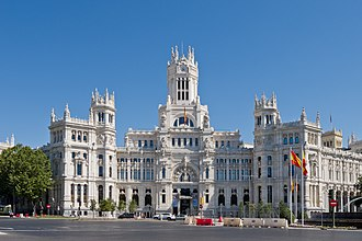 Architecture of Madrid - Cybele Palace: City Hall of Madrid and iconic monument of the city