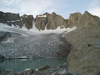 Palisades (California Sierra) - North Palisade and Thunderbolt Peak, from the Palisade Glacier