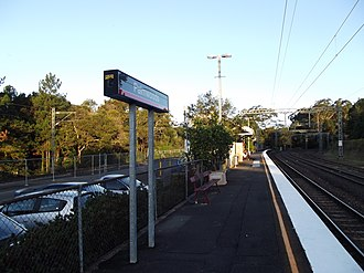 Palmwoods railway station - Southbound view in July 2012