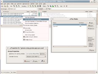 Newsreader (Usenet) newsgroup reading software