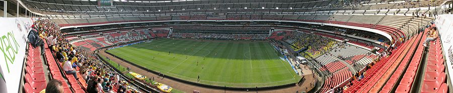 a4cc705c4b7 A panorama of the Estadio Azteca during a league match against Tecos