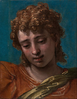 Petrobelli altarpiece - Head of the Archangel Michael, Blanton Museum of Art