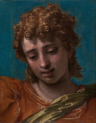 Petrobelli altarpiece - Head of the Archangel Michael, Blanton Museum of Art