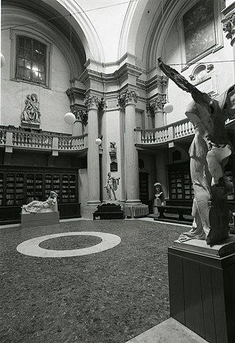Accademia di Belle Arti di Bologna - The interior of the Accademia in 1974