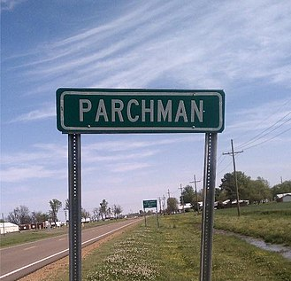 Mississippi State Penitentiary - Parchman roadsign