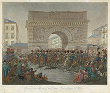 Siegreicher Einzug der hohen Verbündeten, um 1815 (Quelle: Wikimedia)