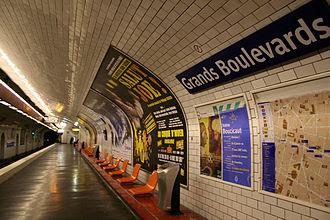 Grands Boulevards (Paris Métro) - Image: Paris Subway Grands Boulevards