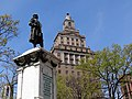 Park Scene with Architecture - Facade of S. Klein Building - Newark - New Jersey - USA (6932513628).jpg