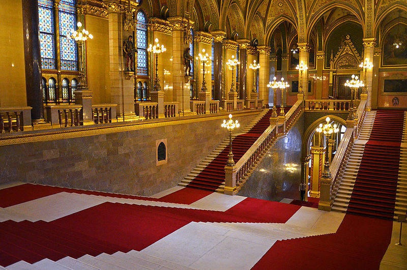 File Parliament Building Budapest Inside Jpg Wikimedia Commons