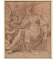 Parmigianino - Madonna mit dem Christuskind und einem Engel, um 1528-1529.png