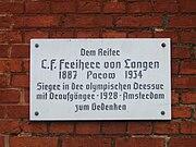 Parow, Gutshaus, Gedenkplatte C.F.von Langen (2007-10-09)