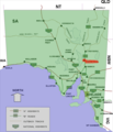 Parrachilna location map in South Australia.PNG