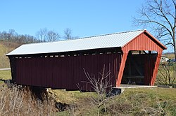 The Parrish Covered Bridge on Rich Valley Road