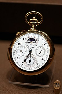 87f08360762 List of most expensive watches sold at auction - Wikipedia