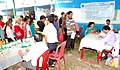Patients waiting in queue at the free medical health camp organised by Ayurveda Regional Research Unit, at the Public Information Campaign, at Melli ground South Sikkim on November 11, 2014.jpg