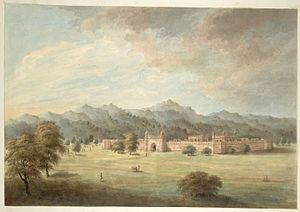 Rohilla - Patthargarh fort outside Najibabad, built by Najib-ud-Daula in 1755. 1814–15 painting.