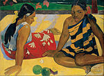 Paul Gauguin - Parau Api. What News - Google Art Project.jpg