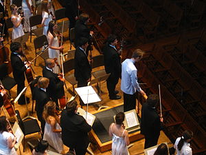 Boston University Tanglewood Institute - The Young Artists Orchestra in their final concert of 2009, performing Mahler's 1st Symphony in Seiji Ozawa Hall under the direction of Paul Haas