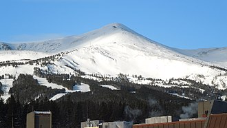Breckenridge Ski Resort - Peak 8 is the geographical center of the resort. It also has the widest variety of terrain, from beginner trails to steep bowl terrain