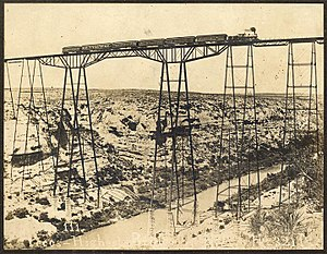 Pecos River High Bridge - Pecos Viaduct, 1892