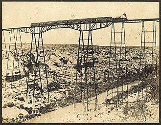 Pecos River High Bridge - Pecos Viaduct, 1892