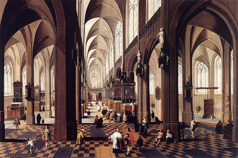 Le due chiavi. 800px-Peeter_Neeffs_%28II%29_-_Interior_of_Antwerp_Cathedral_-_WGA16482